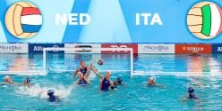 NED Defense ITA - NED Italy (white caps) vs. Netherlands (blue caps) Barcelona 17/07/2018 Piscines Bernat Picornell Women qualification 33rd LEN European Water Polo Championships - Barcelona 2018 Photo Giorgio Scala/Deepbluemedia/Insidefoto
