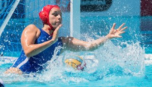 1 PERES Ayelet ISR (Red Cap) ISR - SRB Israel (white caps) vs Serbia (blue caps) Women Barcelona 23/07/18 Piscines Bernat Picornell Final 9th-10th place 33rd LEN European Water Polo Championships - Barcelona 2018 Photo Giorgio Scala/Deepbluemedia/Insidefoto