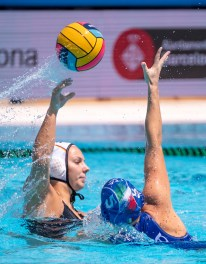 8 FRY Aylin W GER GER - ITA Germany (white caps) vs. Italy (blue caps) Barcelona 25/07/2018 Piscines Bernat Picornell Women Semifinals 5th - 8th 33rd LEN European Water Polo Championships - Barcelona 2018 Photo Pasquale Mesiano/Deepbluemedia/Insidefoto