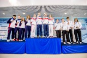 Podium Russian Federation RUS Gold Medal Team Great Britain GBR Silver Medal Team Germany GER Bronze Medal 4X100 Medley Mixed Relay Finals LEN 45th European Junior Swimming Championships Helsinki, Finland MŠkelŠnrinne Swimming Centre Day04 07-07-2018 Photo Andrea Masini/Deepbluemedia/Insidefoto