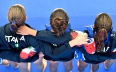 ITALY Team FRA - ITA France (white caps) vs. Italy (blue caps) Barcelona 21/07/2018 Piscines Bernat Picornell Women qualification 33rd LEN European Water Polo Championships - Barcelona 2018 Photo Andrea Staccioli/Deepbluemedia/Insidefoto
