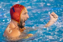 1 LOPEZ D. (C) GK ESP SRB - ESP Serbia (white caps) vs. Spain (blue caps) Barcelona 28/07/2018 Piscines Bernat Picornell Men Final 1st - 2nd Place Gold Medal Match 33rd LEN European Water Polo Championships - Barcelona 2018 Photo Pasquale Mesiano/Deepbluemedia/Insidefoto