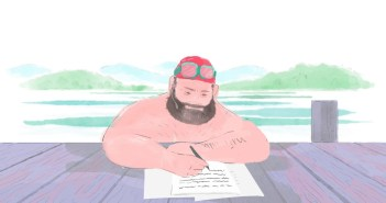 A Wonderful Animated Vignette About Writing While Swimming