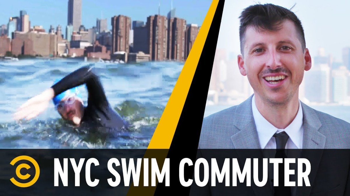 NYC Man Who Swims To Work Everyday – Mini-Mocks