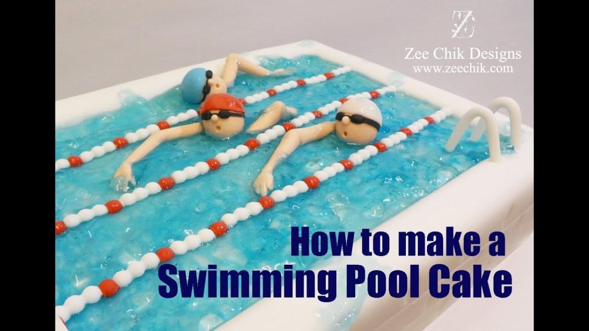How to make a swimming pool cake