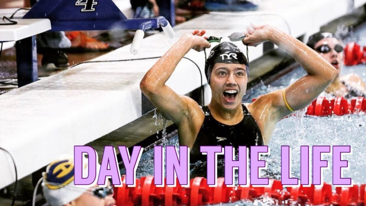 Day in the Life of a College Swimmer | Meet Day