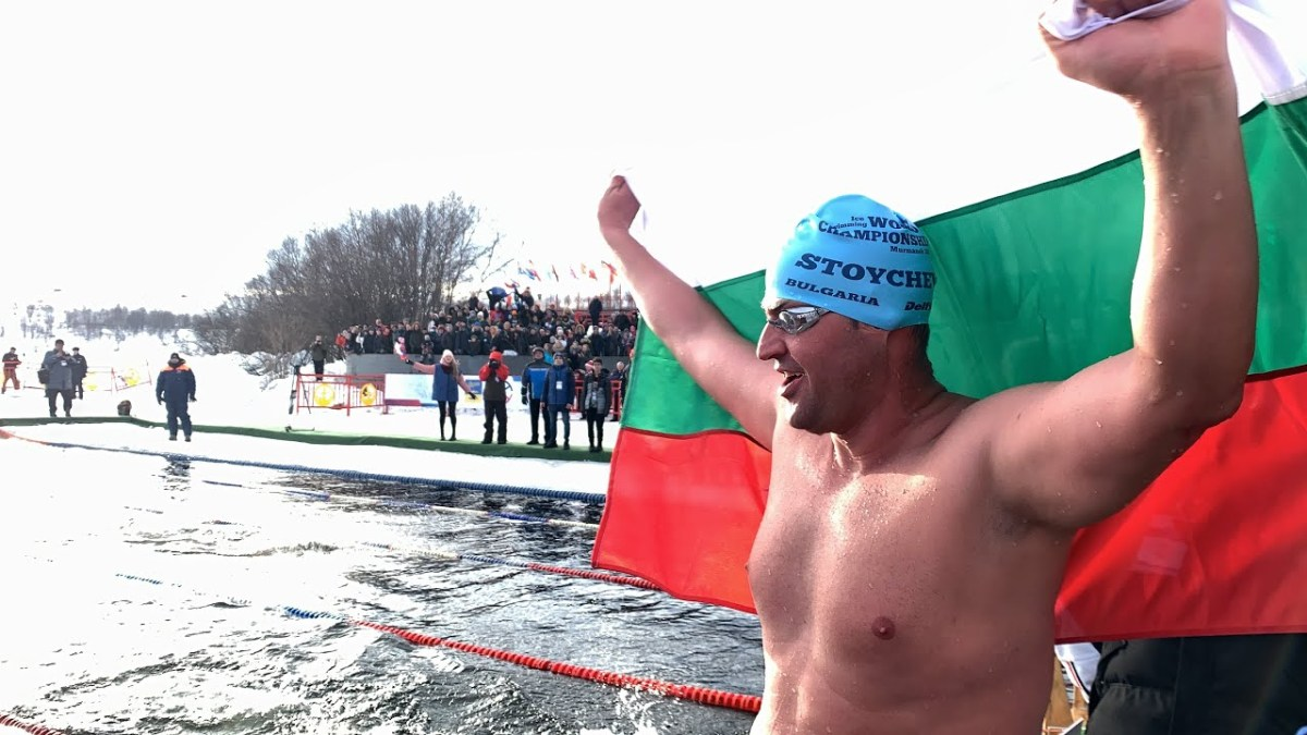 Interview with Men's 1000m Ice Swimming Champion - Petar Stoychev