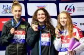 50 Breaststroke women medal ceremony LEN European Swimming Junior Championships 2019 Aquatic Palace Kazan Day1 03/07/2019 Photo G.Scala/Deepbluemedia/Insidefoto