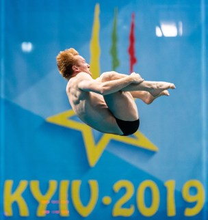 HEATLY JAMES GBR Great Britain Men - 3m Springboard - Final - Final Kyiv, Ukraine UKR 09/08/2019 Diving Len European Diving Championships 2019 Sport Arena Liko Kyiv, Ukraine Photo © Giorgio Scala / Deepbluemedia / Insidefoto