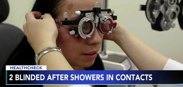 Doctors warn against swimming, showering with contact lenses