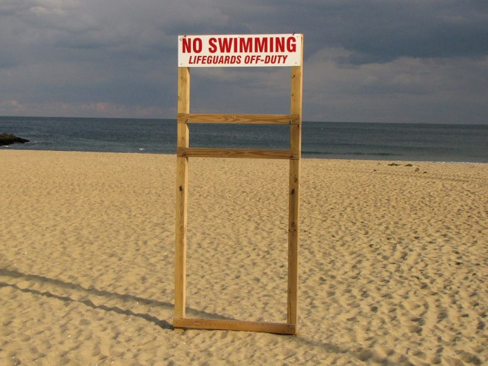 new jersey beach swimming sign photo
