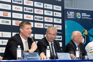 Attila VARI Hungarian Federation President Press Conference Budapest , Hungary 10/01/2020 XXXIV LEN European Water Polo Championships 2020 DUNA Arena Swimming Centre Photo Giorgio Scala / Deepbluemedia / Insidefoto