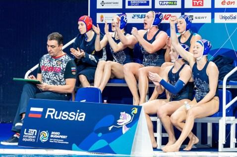 Russia Budapest 19/01/2020 Duna Arena Greece (white caps) Vs. Russia (blue caps) Women XXXIV LEN European Water Polo Championships 2020 Photo ©Giorgio Scala / Deepbluemedia / Insidefoto