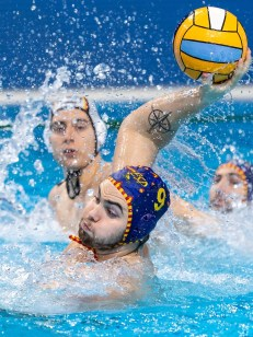 9 ESP TAHULL COMPTE Roger Spain Budapest 20/01/2020 Duna Arena Germany (white caps) Vs. Spain (blue caps) Men XXXIV LEN European Water Polo Championships 2020 Photo ©Giorgio Scala / Deepbluemedia / Insidefoto