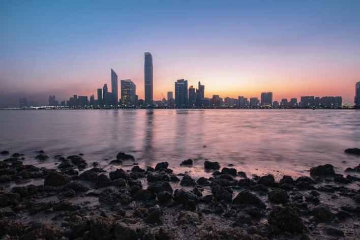 skyscrapers near body of water