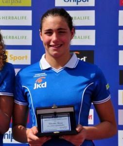 Claudia Tarzia premiata a Roma con la Nazionale Juniores di Anversa (ph. By Swimming Channel)