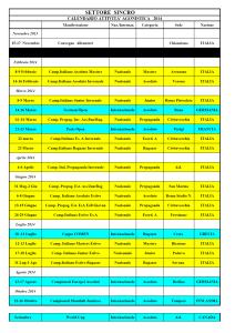 calendario synchro 2013 2014