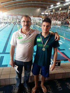 Andrea Castello e il coach Ziwicky