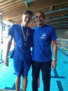 Giulio Ciavarella e il suo coach Mario Ciavarella (zio e nipote)