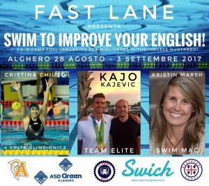 SWIM CAMP FAST LANE 2017 - IMPROVE YOUR ENGLISH
