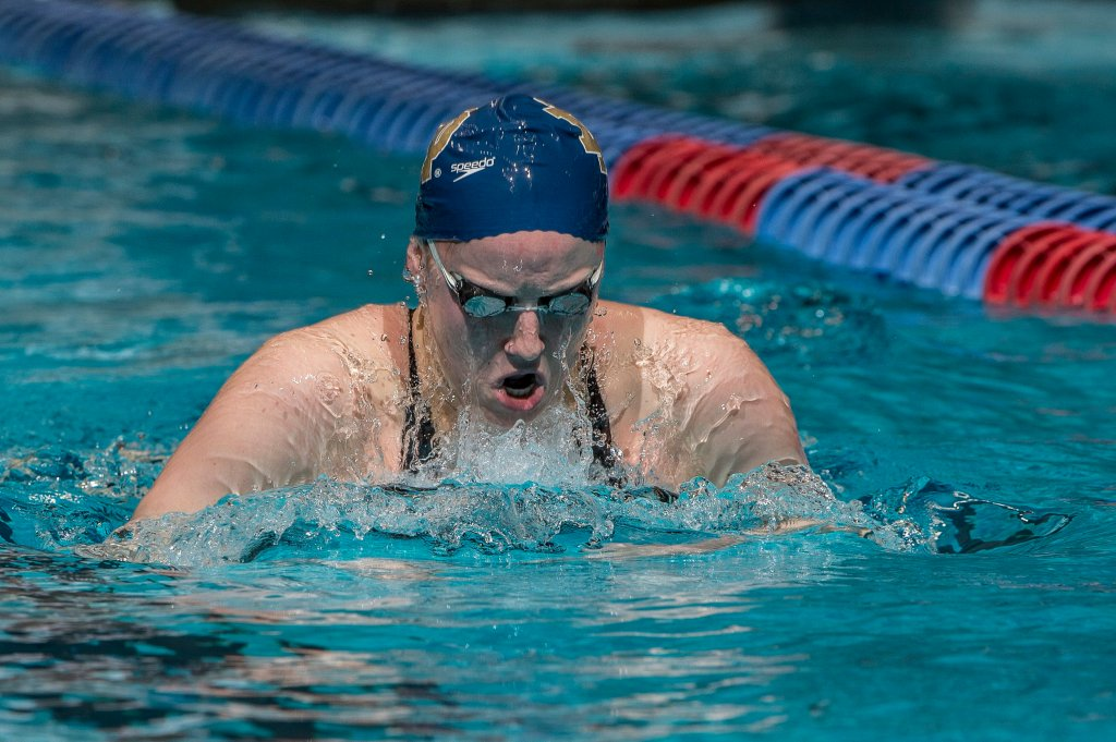 Emma Reaney places second in the prelims of the 200 breaststroke.