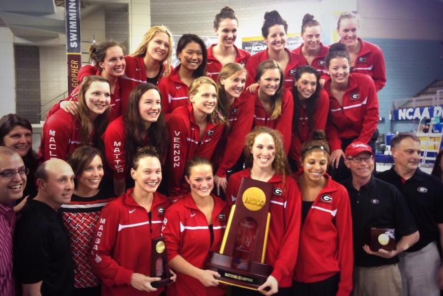 2014 Georgia Team Celebration Women's NCAA