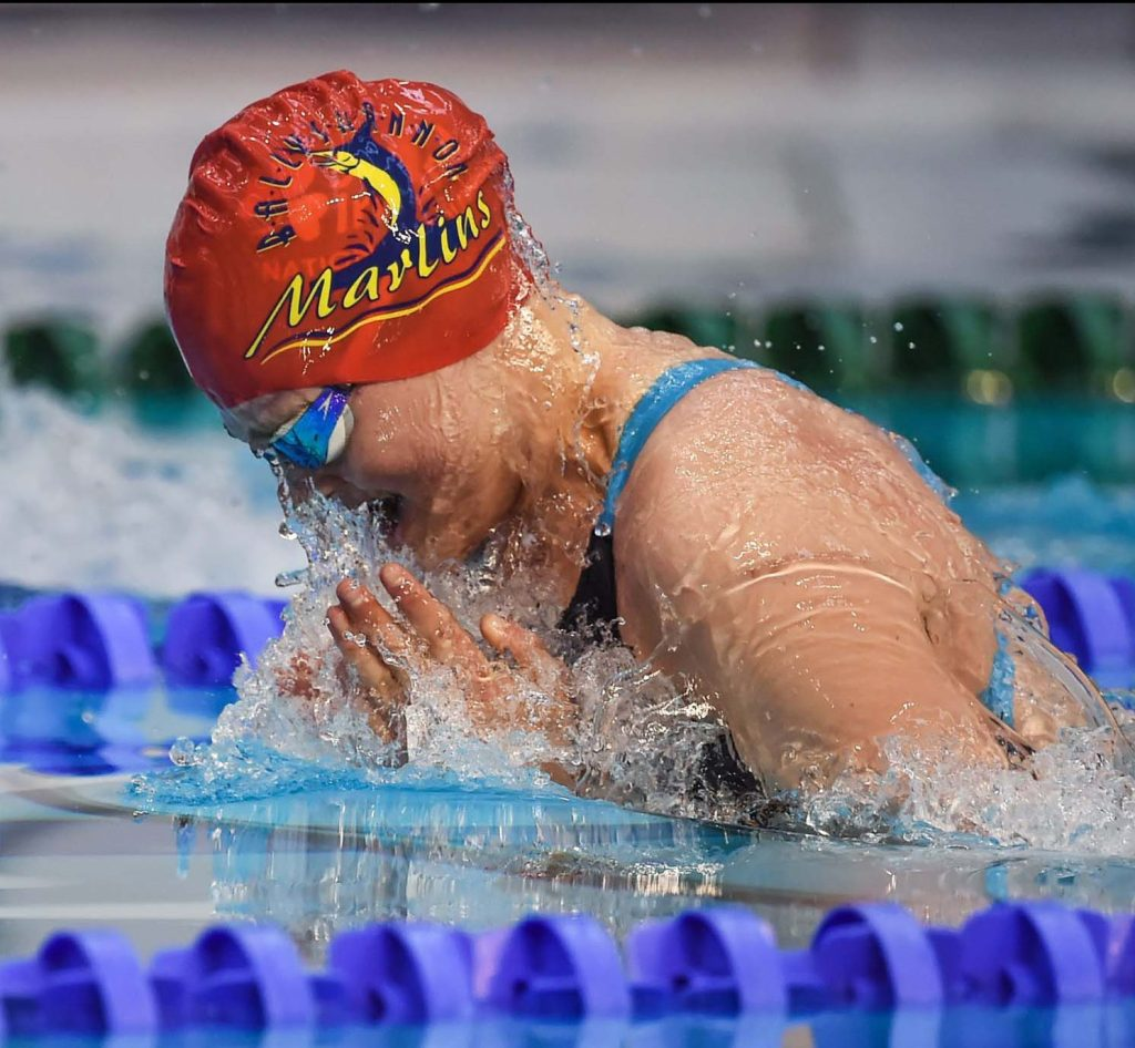 2 May 2015; Mona McSharry, Marlin, competes in the final of the women's 100m breaststroke event during the 2015 Irish Open Swimming Championships at the National Aquatic Centre, Abbotstown, Dublin. Picture credit: Stephen McCarthy / SPORTSFILE