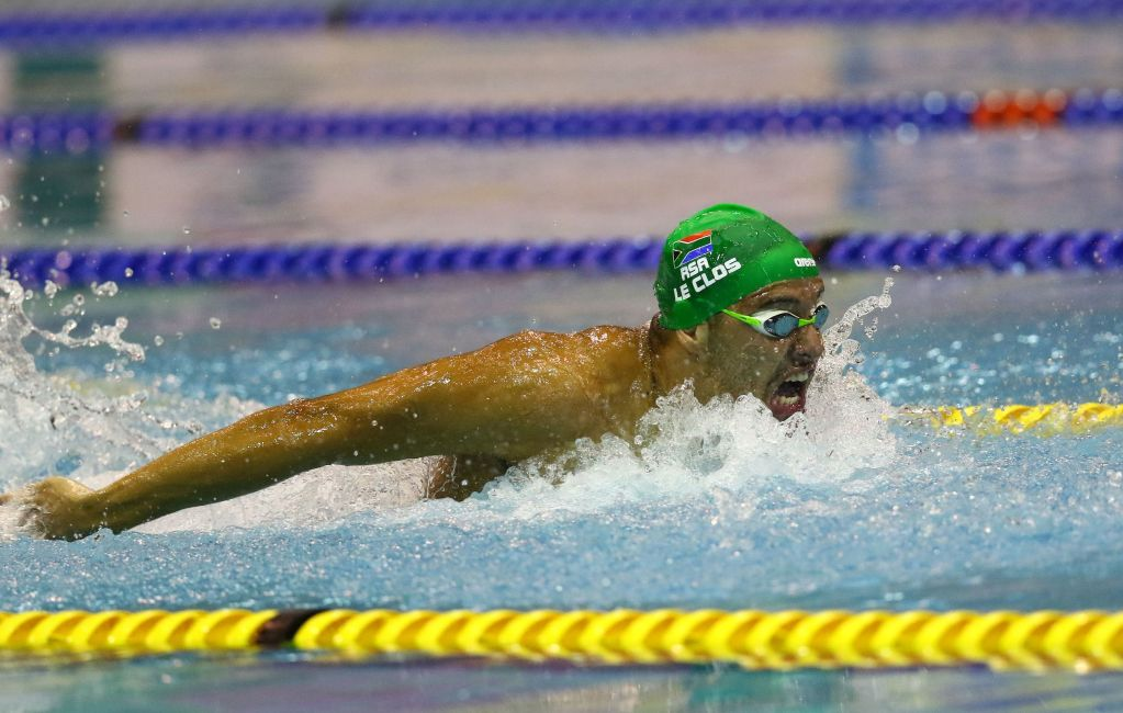 DURBAN, SOUTH AFRICA - APRIL 15: Chad le Clos swims the qualifying time swim in the 100m time trail medley relay during the finals session on day 6 of the SA National Aquatic Championships and Olympic Trials on April 15 , 2016 at the Kings Park Aquatic Center pool in Durban, South Africa. Photo Credit / Anesh Debiky/Swim SA