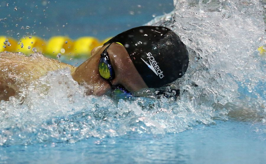 DURBAN, SOUTH AFRICA - APRIL 15: Dylan Bosvch during the finals session 200m IM on day 6 of the SA National Aquatic Championships and Olympic Trials on April 15 , 2016 at the Kings Park Aquatic Center pool in Durban, South Africa. Photo Credit / Anesh Debiky/Swim SA