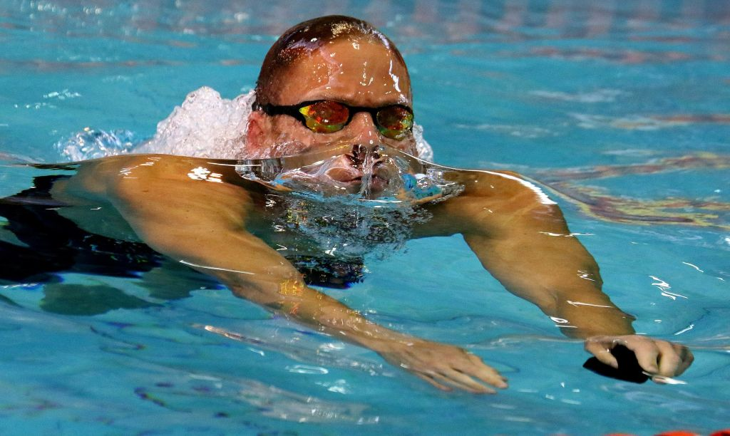 DURBAN, SOUTH AFRICA - APRIL 13: Roland Schoeman during the heats session 50m freestyle on day 6 of the SA National Aquatic Championships and Olympic Trials on April 13 , 2016 at the Kings Park Aquatic Center pool in Durban, South Africa. Photo Credit / Anesh Debiky/Swim SA