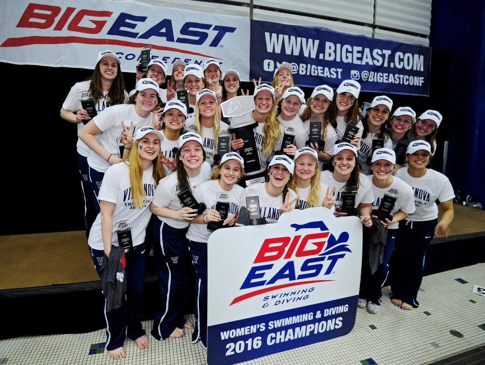 2016 Big East Swimming and Diving Championship on Feb. 27, 2016 at Nassau County Aquatic Center in East Meadow, New York.