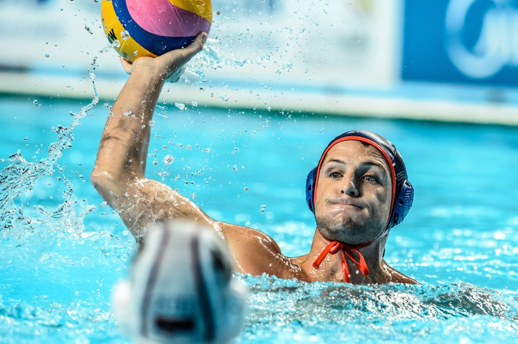 04-08-2015: Waterpolo: Servie v USA: Kazan Waterpolo match between men of Serbia and USA during the 16th FINA World Championships 2015 in Kazan