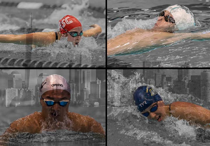 dakota luther, carson foster, erica sullivan, daniel roy, usa swimming, speedo junior nationals, morning splash
