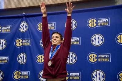mauro castillo, texas a&m men's swimming, 2018 sec championships