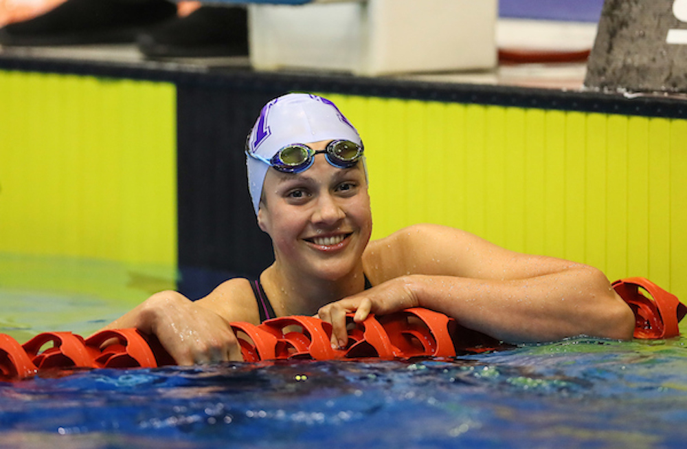 Brearna Crawford, 200m Breast record. Swimming New Zealand Aon National Age Group Championships, Wellington Regional Aquatic Centre, Wellington, New Zealand, Wednesday 17 April 2019. Photo: Simon Watts/www.bwmedia.co.nz