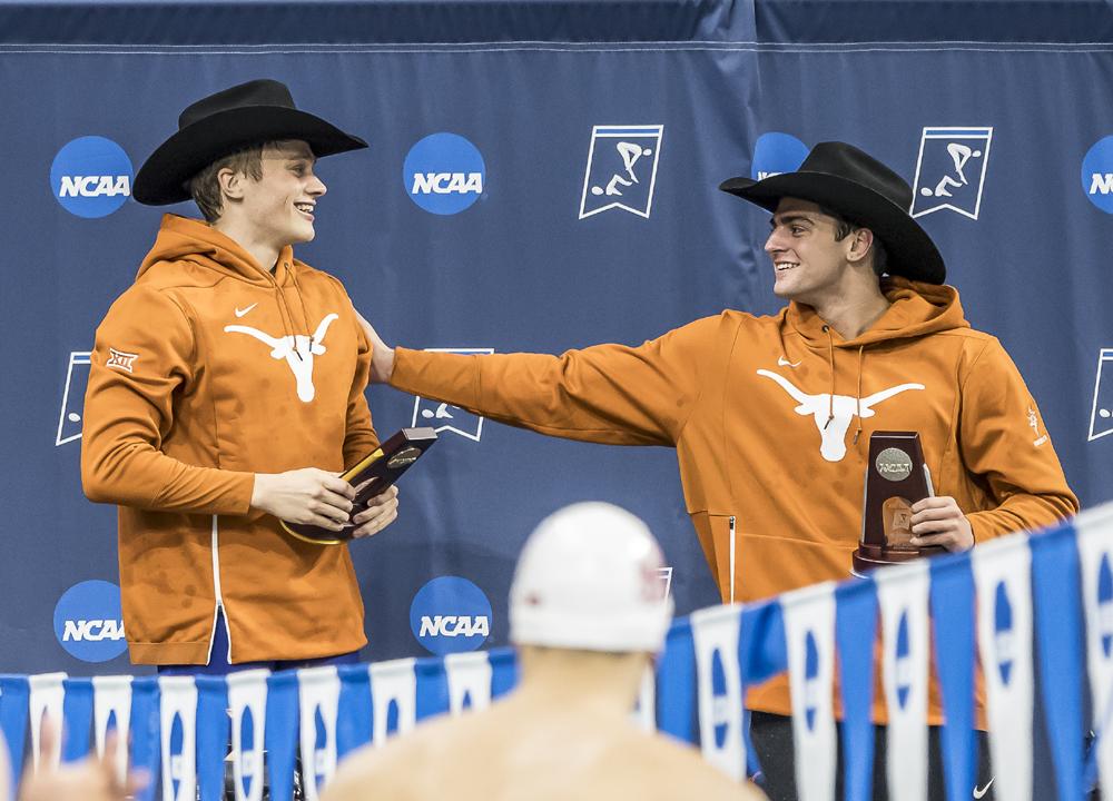 john shebat austin katz texas longhorns 200 Backstroke, 2019 NCAA DI Men's Championship, Day 4 Finals, Katz Austin, Shebat John