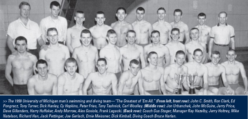 1959 University of Michigan Wolverines Team with roster list