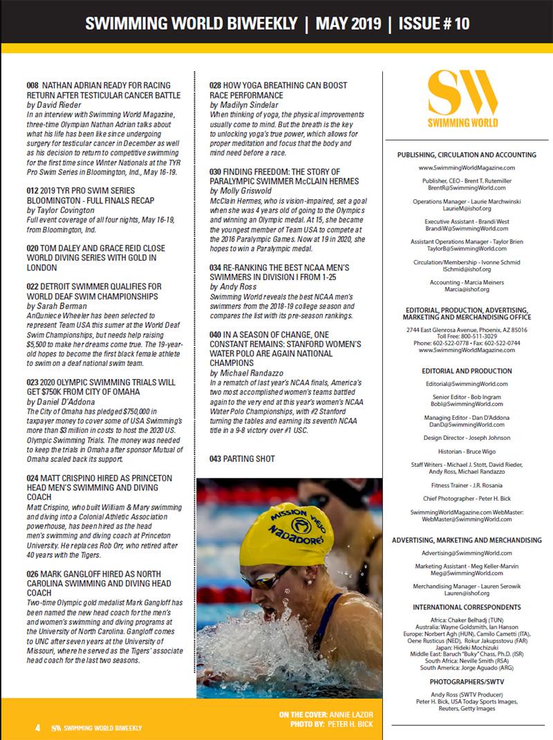 SW Biweekly: In Bloom(ington) - 2019 TYR Pro Swim Series Full Finals Recap