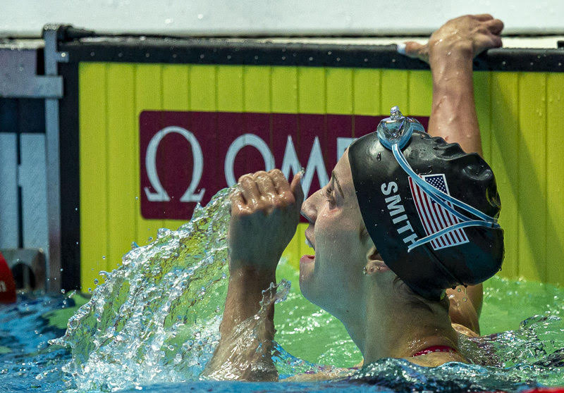 Watch Regan Smith in 100 Back, USA Medley Relay Shatter World Records in Same Race (Race Video)