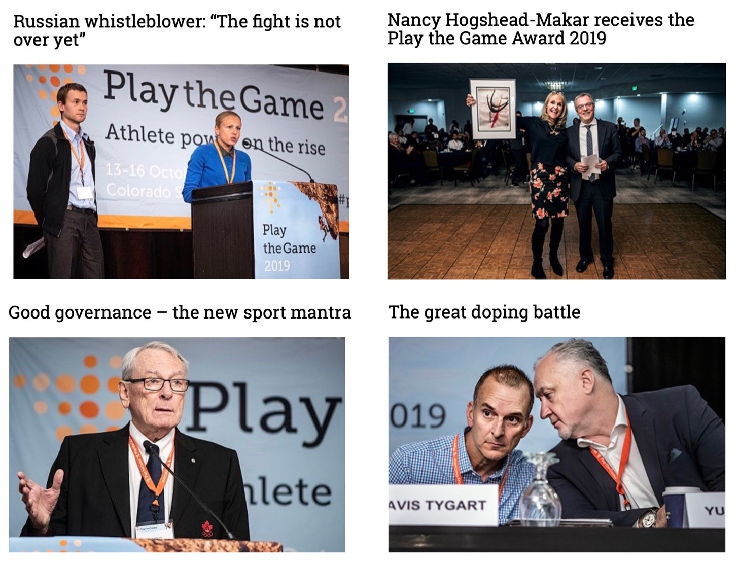Play The Game Goggles On Whistleblowers, Athlete Power, Safety, Doping & Governance