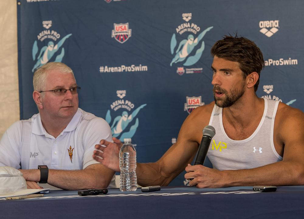 Swimming World November 2019 Takeoff to Tokyo The Sydney 6 Michael Phelps Bob Bowman