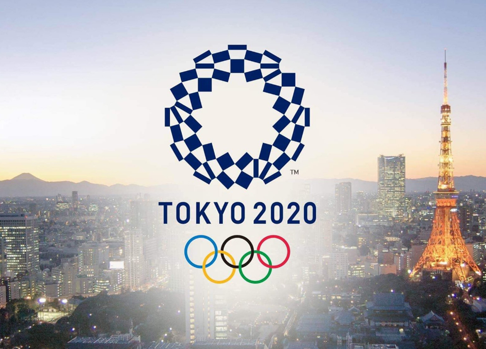 Swimming World January 2020 - A Voice For the Sport - Tokyo2020 skyline - Photo Courtesy Twitter Refugees Olympic-tokyo-olympics