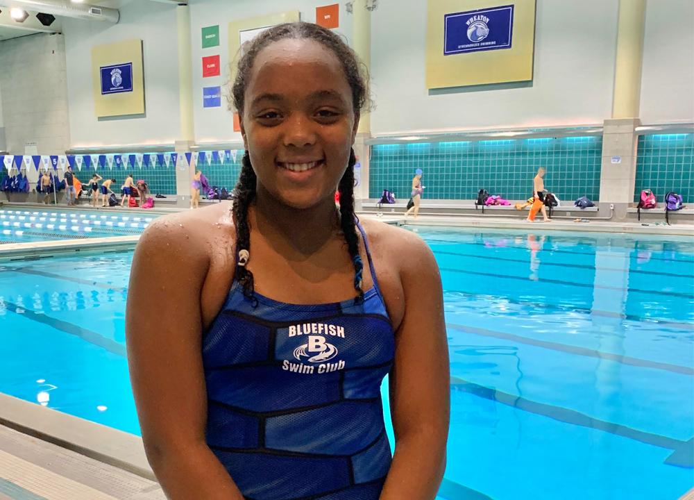 Swimming World February 2020 - Up and Comers - Zuri Ferguson - Bluefish Swim Club