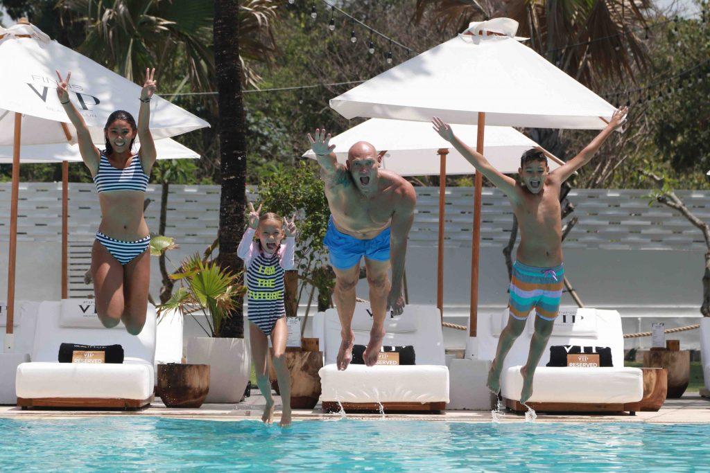 Michael Klim with kids Stella,13 Frankie 7 and Rocco 10