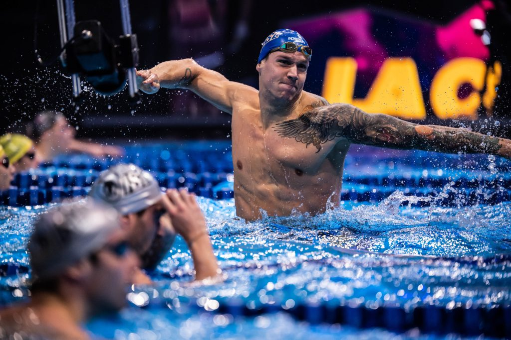 Caeleb Dressel Breaks WR in 100 IM ISL, Budapest, Hungary (photo: Mike Lewis)