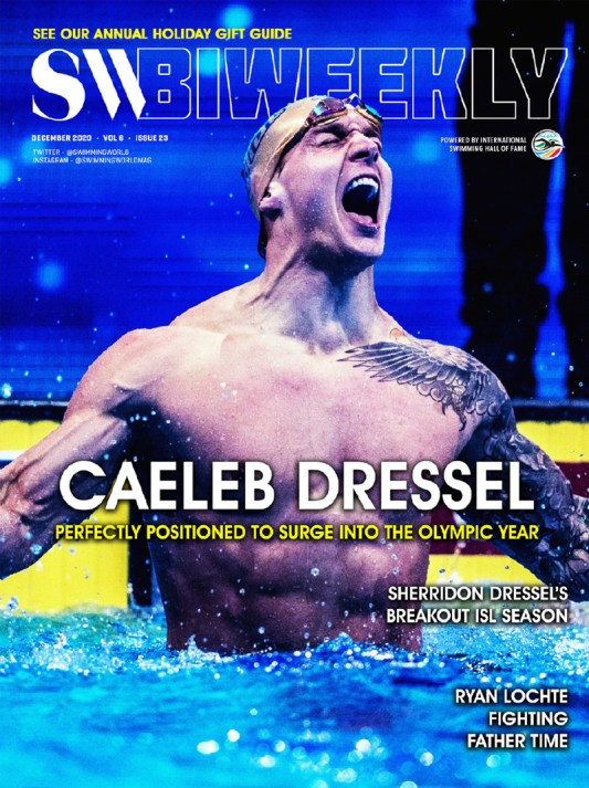 SW Biweekly 12-7-2020 - Caeleb Dressel - Perfectly Positioned To Surge Into The Olympic Year - Cover