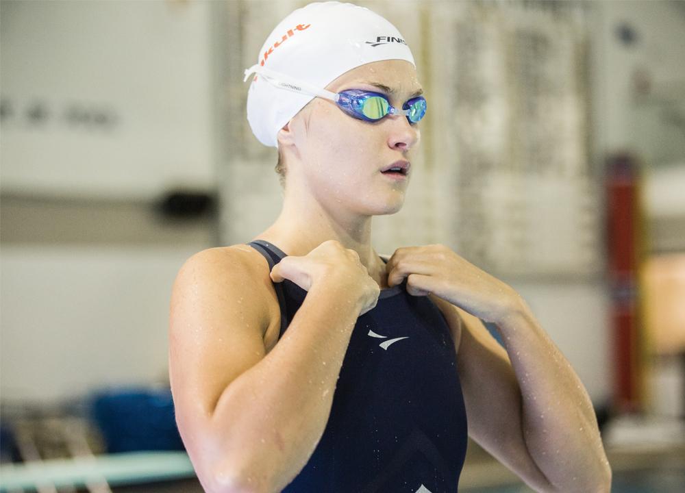 Swimming World January 2021 - Mental Prep - Before the Beep - Olivia Smoliga