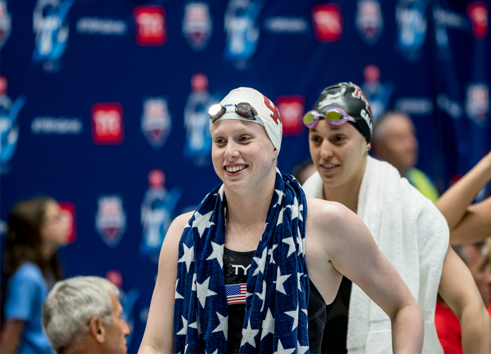 Swimming World April 2021 - Lilly King - Ever The Competitor - tyr-pro-indy-2018