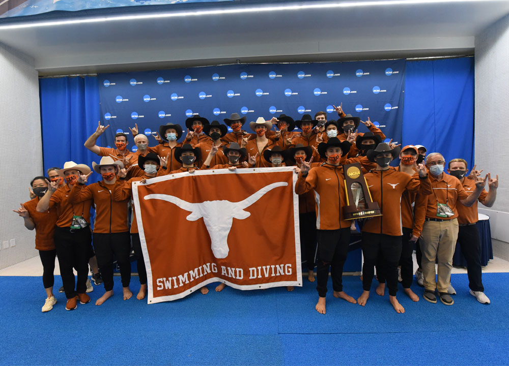 Swimming World June 2021 - Men's 2021 NCAA Review - Texas Longhorns