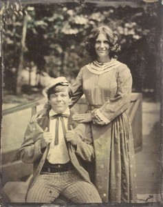 Tintype of Darrell and Patricia Wiskur, Silver Dollar City, Missouri, about our honeymoon
